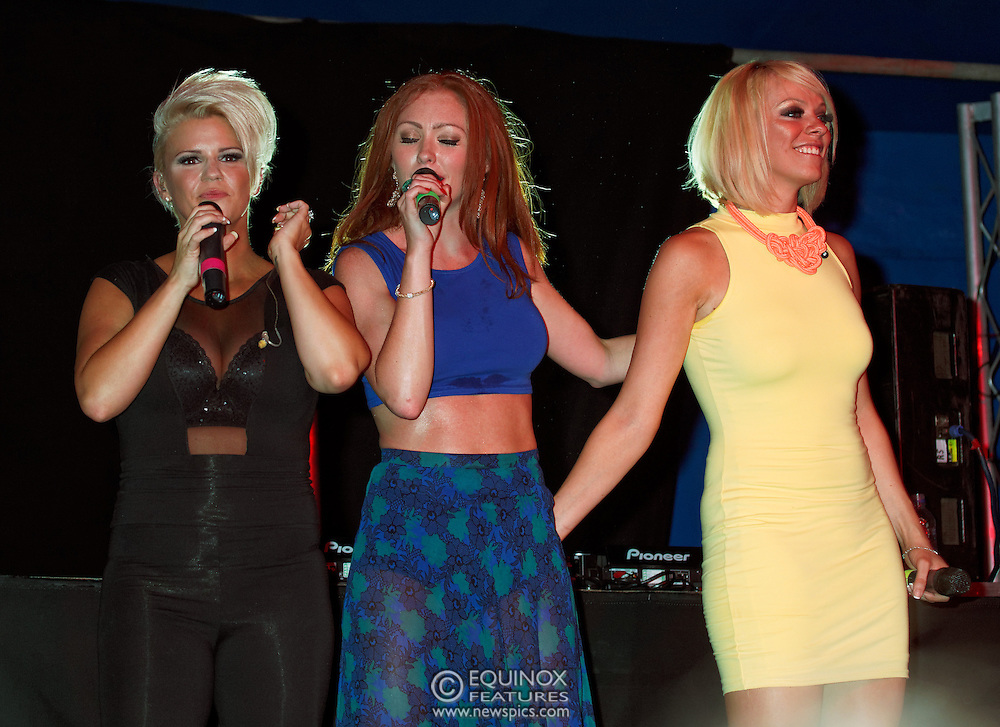 London, United Kingdom - 29 June 2013<br /> As part of the gay Pride 2013 celebrations Girl band Atomic Kitten performing at Summer Rites / Pride Party In The Park, Shoreditch Park, Hoxton, London, England, UK.<br /> Contact: Equinox News Pictures Ltd. +448700780000 - Copyright: ©2013 Equinox Licensing Ltd. - www.newspics.com<br /> Date Taken: 20130629 - Time Taken: 202144