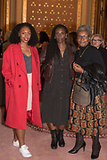 NADINE WALKER; BARBARA WALKER; LORNA ANDERSON, TenTen. The Government Art Collection/Outset Annual Award. Champagne reception to announce the inaugural artist Hurvin Anderson and unveil his 2018 print. Locarno Suite, Foreign and Commonwealth Office. SW1. 2 October 2018