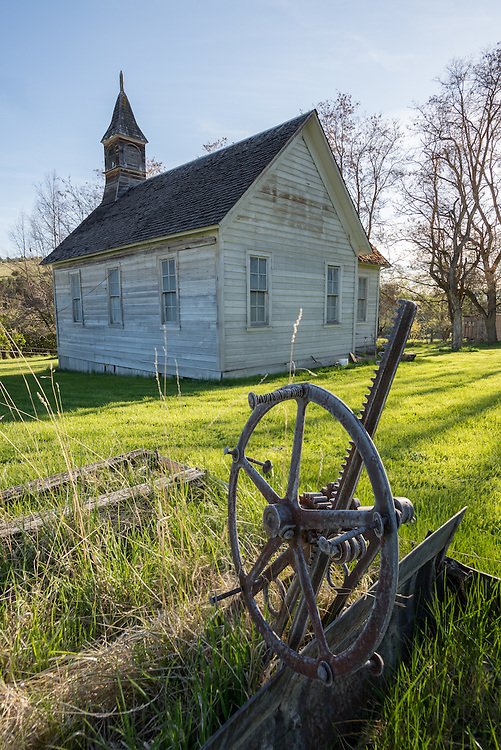 Old church in the ghost town of Richmond, Oregon.