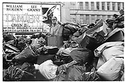 Rubbish in Leicester Sq. Winter of Discontent. London. 1979,