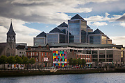 """Dublin (Irish: Baile Átha Cliath, pronounced [blʲaˈklʲiə] or Áth Cliath, [aː klʲiə]) is the largest city in Ireland and the capital city of the Republic of Ireland.[ The English name is derived from the Irish name Dubh Linn, meaning """"black pool"""". It is a primate city with a population of over 1.2 million, containing almost 25% of the country's population. Dublin is situated near the midpoint of Ireland's east coast, at the mouth of the River Liffey, and at the centre of the Dublin Region."""
