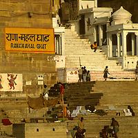 Asia, India, Varanasi. Ranamahal Ghat.
