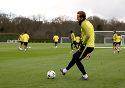Tottenham Hotspur's Harry Kane during the training session at Tottenham Hotspur Football Club Training Ground, London.