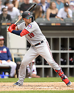 CHICAGO - JUNE 30:  Mitch Garner #18 of the Minnesota Twins bats against the Chicago White Sox on June 30, 2019 at Guaranteed Rate Field in Chicago, Illinois.  (Photo by Ron Vesely)  Subject:  Mitch Garner