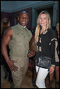 CHRIS EUBANK; PIPPA VOSPER, Drinks party to launch this year's Frieze Masters.Hosted by Charles Saumarez Smith and Victoria Siddall<br />  Academicians' room - The Keepers House. Royal Academy. Piccadilly. London. 3 July 2014