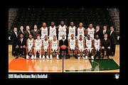 2005 Miami Hurricanes Men's Basketball Team Photo