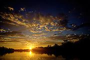 Sunrise over Rio Blanco - Amazonia, Peru.