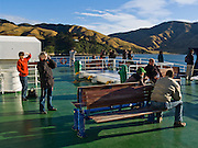 Bluebridge Ferry transports cars & people through Tory Channel, South Island, New Zealand