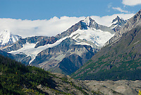 Peaks at the head of the Root Glacier Valley, Wrangell-St. Elias National Park Alaska