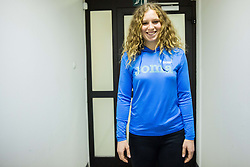 Barbara Spiler during press conference when Slovenian athletes and their coaches sign contracts with Athletic federation of Slovenia for year 2016, on February 25, 2016 in AZS, Ljubljana, Slovenia. Photo by Vid Ponikvar / Sportida