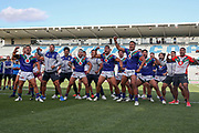 The Warriors Haka for Adam Blair. Vodafone Warriors v Manly Sea Eagles. NRL Rugby League, Central Coast Stadium, Gosford, NSW, Australia, Sunday 27th September 2020 Copyright Photo: David Neilson / www.photosport.nz
