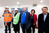 Dominique Fondacci / Alain Juppe / Arielle Piazza / Thierry Guichard - 23.03.2015 - Visite du Stade de Bordeaux -<br /> Photo : Caroline Blumberg / Icon Sport *** Local Caption ***