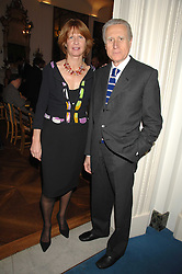 The Italian ambassador GIANCARLO ARAGONA and his wife SANDRA at a party to celebrate the publication of Dell'Olio's book 'My Beautiful Game' held at the Italian Embassy, Grosvenor Square, London on 17th April 2008.<br />