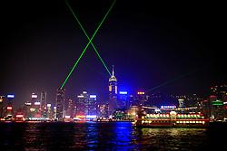 HONG KONG 27FEB08 - A Symphony of Lights show on the Hong Kong Skyline, seen from Tsim Sha Tsui waterfront, Kowloon, Kong Kong...jre/Photo by Jiri Rezac..© Jiri Rezac 2008..Contact: +44 (0) 7050 110 417.Mobile:  +44 (0) 7801 337 683.Office:  +44 (0) 20 8968 9635..Email:   jiri@jirirezac.com..Web:    www.jirirezac.com..© All images Jiri Rezac 2008 - All rights reserved.