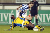 Fotball, 15. desember 2004, SC Heerenveen - SK Beveren , , UEFA Cup , 1-0 , Marco Ne i duell med Daniel  Berg Hestad