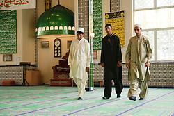 Muslim boys leaving a Mosque.