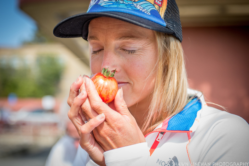 Stephanie Howe is a winning ultrarunner and also has her PHD in nutrition. Here she shops for fresh, in season, local, and organic produce from the North Berkeley Farmers Market in California.