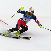 Winter Olympics, Vancouver, 2010.Andrew Noble, Great Britain, in action during the Alpine Skiing, Men's Slalom at Whistler Creekside, Whistler, during the Vancouver Winter Olympics. 27th February 2010. Photo Tim Clayton
