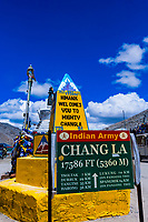 Summit, Changla Pass (third highest motorable road in the world), Ladakh, Jammu and Kashmir State, India.