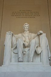 Washington DC; USA: The Lincoln Memorial, Statue of President Abraham Lincoln, on the Mall.Photo copyright Lee Foster Photo # 4-washdc76124
