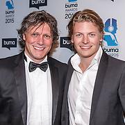NLD/Hilversum/20150217 - Inloop Buma Awards 2015, Thomas Berge en Edwin van Hoevelaak