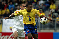 Fotball <br /> FIFA World Youth Championships 2005<br /> Tilburg<br /> Nederland / Holland<br /> 12.06.2005<br /> Foto: ProShots/Digitalsport<br /> <br /> Colombia v Italia<br /> <br /> juan zuniga