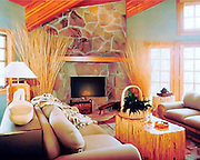 Interior of condo at Deer Valley resort, Utah for Deer Valley Lodging ad campaign.