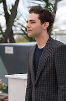 Director Xavier Dolan at the It's Only the End of the World (Juste La Fin Du Monde) film photo call at the 69th Cannes Film Festival Thursday 19th May 2016, Cannes, France. Photography: Doreen Kennedy