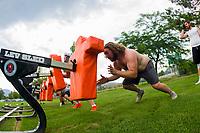 KELOWNA, CANADA - JULY 17:  The Okanagan Sun football season gets underway with Day of training camp on July 17, 2018 at the Apple Bowl in Kelowna, British Columbia, Canada.  (Photo by Marissa Baecker/Shoot the Breeze)  *** Local Caption ***