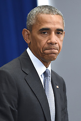 U.S. President Barack Obama holds a press conference about the recent bombing in the New York region at the Lotte New York Palace Hotel in New York City, NY, USA, on September 19, 2016. On the evening of September 17, 2016, a bomb placed in a dumpster exploded in lower Manhattan injuring at least 29 people. Photo by Anthony Behar/Pool/Sipa USA/ABACAPRESS.COM  | 563720_002 New York City Etats-Unis United States