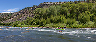 Inflatable kayaks on the Dolores River, Dolores, Colorado