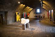 Inside International Museum of Contemporary Art, San Jose fortress, Lanzarote, Canary islands, Spain
