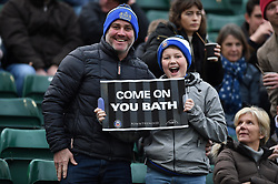 Bath Rugby supporters in the crowd pose for a photo - Mandatory byline: Patrick Khachfe/JMP - 07966 386802 - 30/12/2018 - RUGBY UNION - The Recreation Ground - London, England - Bath Rugby v Leicester Tigers - Gallagher Premiership Rugby