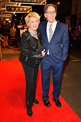 © Licensed to London News Pictures. 16/02/2016. GLORIA HUNNIFORD and DON BLACK arrive for the press night of Mrs Henderson Presents press night at the Noel Coward Theatre. London, UK. Photo credit: Ray Tang/LNP