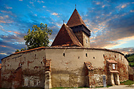 The Gothic  14th Century Axente Sever Saxon Evangelical Fortified Church, Sibiu, Transylvania. .<br /> <br /> Visit our ROMANIA HISTORIC PLACXES PHOTO COLLECTIONS for more photos to download or buy as wall art prints https://funkystock.photoshelter.com/gallery-collection/Pictures-Images-of-Romania-Photos-of-Romanian-Historic-Landmark-Sites/C00001TITiQwAdS8<br /> .<br /> Visit our MEDIEVAL PHOTO COLLECTIONS for more   photos  to download or buy as prints https://funkystock.photoshelter.com/gallery-collection/Medieval-Middle-Ages-Historic-Places-Arcaeological-Sites-Pictures-Images-of/C0000B5ZA54_WD0s