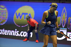 February 1, 2018 - St. Petersburg, Russia - Russian Federation. Saint-Petersburg. SIBUR arena. Tennis. Tennis, WTA - St. Petersburg Ladies Trophy 2018. Kristina Mladenovic - Dominika Cibulkova. (Credit Image: © Russian Look via ZUMA Wire)