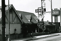 1973 Dino's Restaurant on Sunset Blvd. in West Hollywood