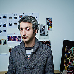 PARIS, FRANCE. DECEMBER 19, 2011. Bags and purses designer Jerome Dreyfuss in his office and showroom near Bastille. Photo: Antoine Doyen