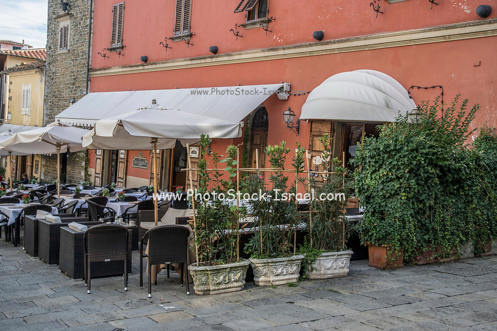 outdoor restaurant in Montecatini Terme is an Italian municipality in the province of Pistoia, Tuscany, Italy.