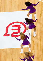 Cheerleaders Dragon Ladies during friendly basketball match between National teams of Slovenia and Montenegro of Adecco Ex-Yu Cup 2011 as part of exhibition games before European Championship Lithuania 2011, on August 7, 2011, in Arena Stozice, Ljubljana, Slovenia. Slovenia defeated Crna Gora 86-79. (Photo by Vid Ponikvar / Sportida)