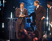 Galla , Idrettgalla 2017<br /> 07.01.2017<br /> Hamar OL-Amfi<br /> Foto : Dagfinn Limoseth , Digitalsport<br /> Thorir Hergeirsson tok i mot prisen for håndballjentene,årests lag