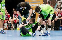 11.03.2017, Halle Hollgasse, Wien, AUT, HLA, SG INSIGNIS Handball WESTWIEN vs HC Fivers WAT Margareten, Oberes Playoff, 5. Runde, im Bild Patrick Ehrenberger ( HC Fivers WAT Margareten), Julian Schiffleitner (SG INSIGNIS Handball WESTWIEN), Philipp Seitz (SG INSIGNIS Handball WESTWIEN) // during Handball League Austria, 5 th round match between HC Fivers WAT Margareten and SG INSIGNIS Handball WESTWIEN at the Halle Hollgasse, Vienna, Austria on 2017/03/11, EXPA Pictures © 2017, PhotoCredit: EXPA/ Sebastian Pucher