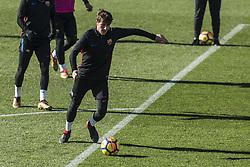 January 5, 2018 - Barcelona, Catalonia, Spain - Sergi Roberto from Spain of FC Barcelona during the FC Barcelona open doors training session at Mini Estadi in Barcelona on 05 of January, 2018. (Credit Image: © Xavier Bonilla/NurPhoto via ZUMA Press)