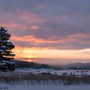 A Cold Sunrise In Ellsworth Michigan