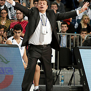 Besiktas's coach Ergin Ataman during their BEKO Basketball League match Besiktas between Galatasaray at the Sinan Erdem Arena in Istanbul at Turkey on Saturday, December, 17, 2011. Photo by TURKPIX