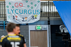 Banner Flag Lycurgus during the second final league match between Amysoft Lycurgus vs. Draisma Dynamo on April 24, 2021 in Groningen.