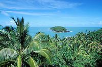 France, Guyane, les Iles du Salut, Ile du Diable vue depuis l'ile Royale // Salut islands, Devil island from Royale island, French Guyane, France