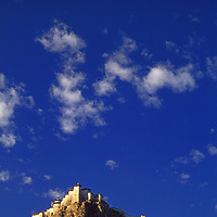 Gyantse, Tibet, People's Republic of China. An ancient hilltop fort; British damaged in 1904, by China in 1960's.