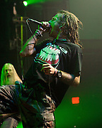 WASHINGTON, DC - January 23rd, 2012 - Vocalist Randy Blythe of the Richmond, VA-based heavy metal band Lamb of God performs at the 9:30 Club in Washington, D.C. The band released their seventh studio album, Resolution, earlier in the week. (Photo by Kyle Gustafson/For The Washington Post)