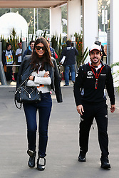 Fernando Alonso (ESP) McLaren with his girlfriend Linda Morselli.<br /> 29.10.2016. Formula 1 World Championship, Rd 19, Mexican Grand Prix, Mexico City, Mexico, Qualifying Day.<br /> Copyright: Batchelor / XPB Images / action press